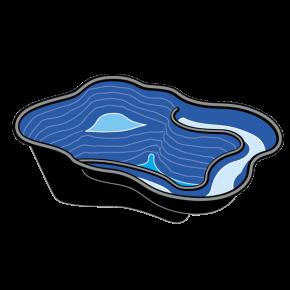 UBBINK Iris SII, Bassin Préformé - 240 litres - Livraison gratuite