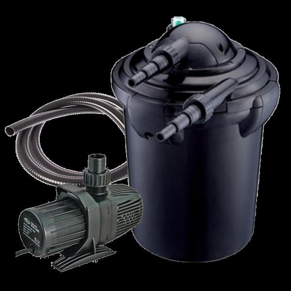 Aqua nova nfp 40 filtre pour bassin de 20000 litres for Filtre pour bassin de jardin