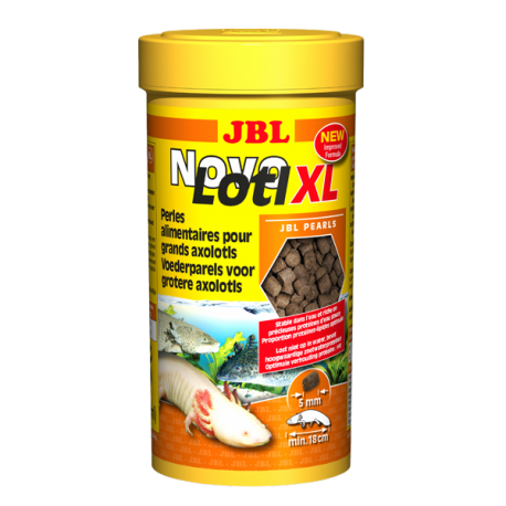 JBL Novolotl XL, Nourriture pour grands Axolotls - Granulés 5mm - 250 ml