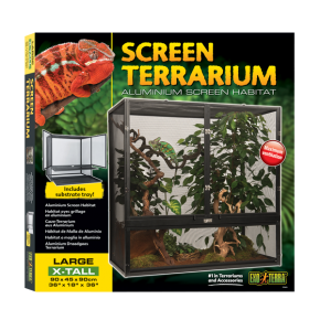 EXO TERRA Screen Terrarium Large/X-Tall - Terrarium grillagé - 90x45x90 cm