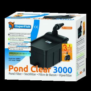 SUPERFISH Pond Clear Kit 3000 - Filtre + UV + Pompe pour Bassin jusqu'à 3000 L
