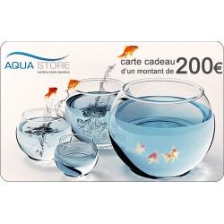 Offrez une carte cadeau Aqua Store d'un montant de 200€