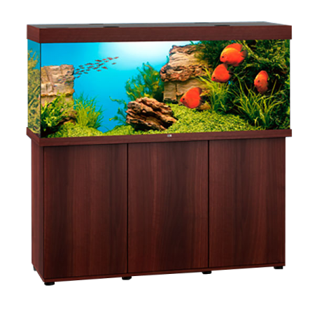 aquarium juwel rio 450 led meuble brun. Black Bedroom Furniture Sets. Home Design Ideas