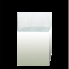 Aquarium Blau Cubic 80 litres + Meuble - Blanc