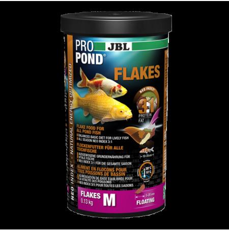 Nourriture poisson de bassin jbl pro pond flakes m 1 litre for Jbl nourriture poisson