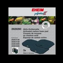 EHEIM Mousse Charbon Actif - Pour Filtre Expérience (x3)
