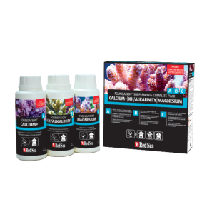 RED SEA Foundation Supplements Complete Pack - Ca, KH, Mg - 3 x 250 ml