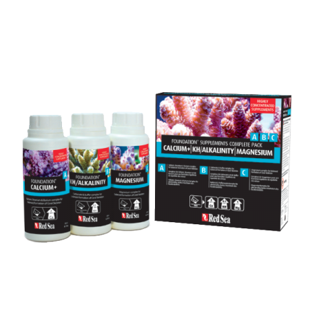RED SEA Foundation Supplements Complete Pack NanoKit - Ca, KH, Mg - 3 x 250 ml