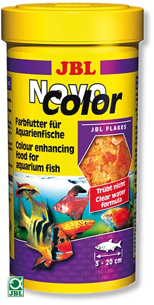 Jbl novo color nourriture poissons color s 250 ml for Nourriture poisson rouge jbl
