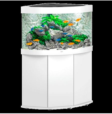 Aquarium juwel trigon 190 led avec meuble blanc for Aquarium avec meuble