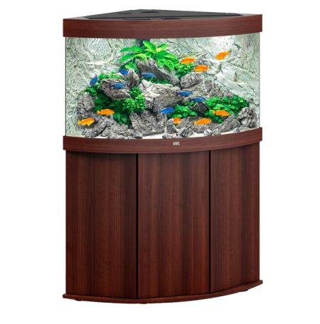 aquarium juwel trigon 190 led avec meuble marron. Black Bedroom Furniture Sets. Home Design Ideas