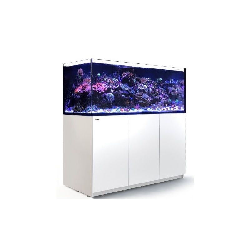 aquarium red sea reefer xxl 625 avec meuble blanc. Black Bedroom Furniture Sets. Home Design Ideas