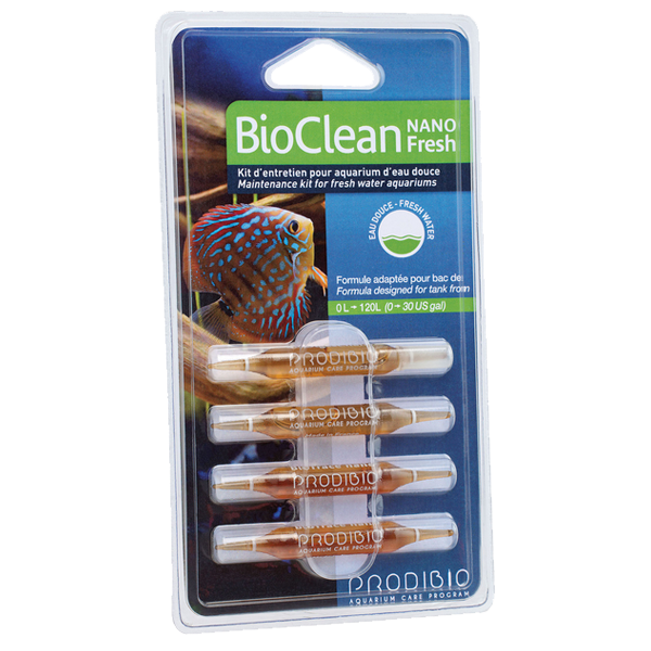 prodibio bioclean fresh nano 4 ampoules kit d 39 entretien pour aquarium d 39 eau douce. Black Bedroom Furniture Sets. Home Design Ideas