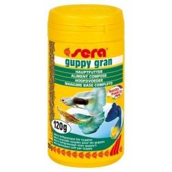 SERA Guppy Gran 250ml Micro-granulés mous pour guppy et vivipares