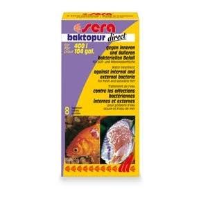 SERA Baktopur direct (8 tablettes) Anti bactérien pour poisson