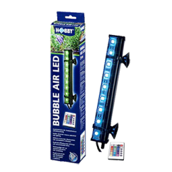 HOBBY Bubble Air LED 21 cm Diffuseur d'air pour aquarium- 9 LED