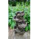UBBINK VERNIER Fontaine de jardin- Cascade éclairée - H. 78 x 46 x 36 cm - Livraison comprise
