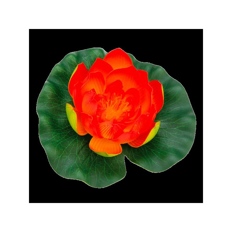 N nuphar orange en plastique pour bassin de jardin pontec for Bassin de jardin en plastique