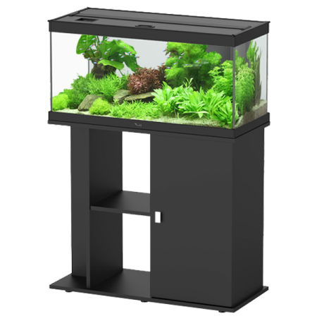 aquarium aquatlantis style led 80 meuble noir. Black Bedroom Furniture Sets. Home Design Ideas