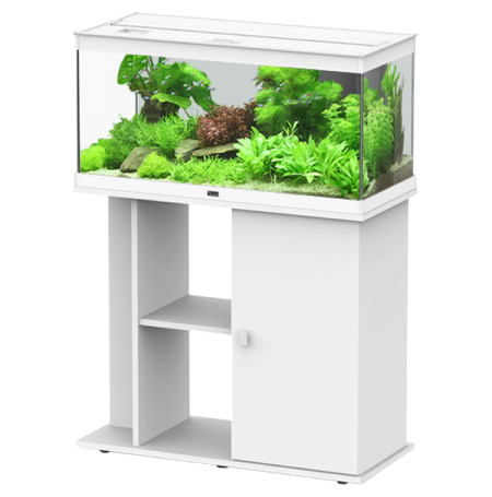 aquarium aquatlantis style led 80 avec meuble blanc. Black Bedroom Furniture Sets. Home Design Ideas