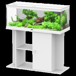Aquarium AQUATLANTIS Style LED 100 cm + Meuble Noir - 160 Litres - Livraison incluse