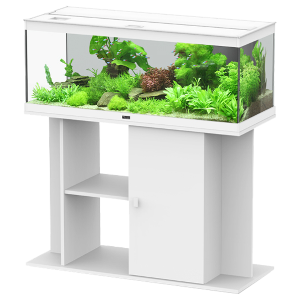 aquarium aquatlantis style led 100 meuble blanc. Black Bedroom Furniture Sets. Home Design Ideas