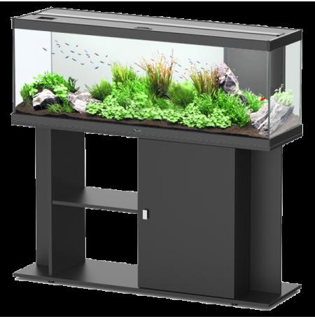 aquarium aquatlantis style led 120 meuble noir. Black Bedroom Furniture Sets. Home Design Ideas
