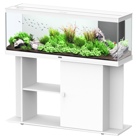aquarium aquatlantis style led 120 meuble blanc. Black Bedroom Furniture Sets. Home Design Ideas
