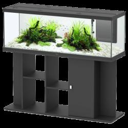 Aquarium AQUATLANTIS Style LED 120 cm + Meuble Noir - 160 Litres - Livraison incluse