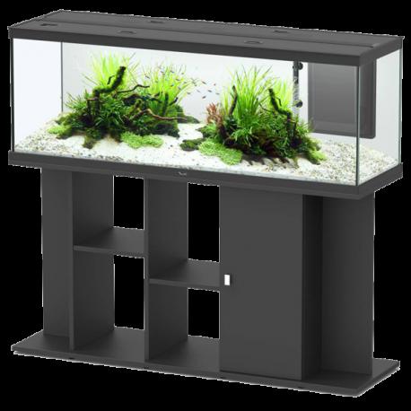 aquarium aquatlantis style led 120 cm meuble noir 160 litres livraison incluse