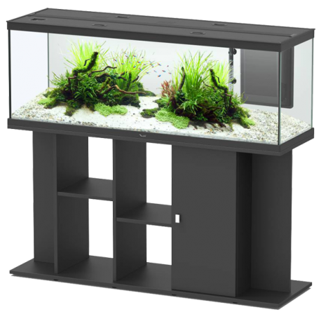 aquarium aquatlantis style led 150 meuble noir. Black Bedroom Furniture Sets. Home Design Ideas