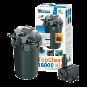 SUPERFISH Top Clear Kit 18000 - Filtre + UV + Pompe pour Bassin jusqu'à 18000 L