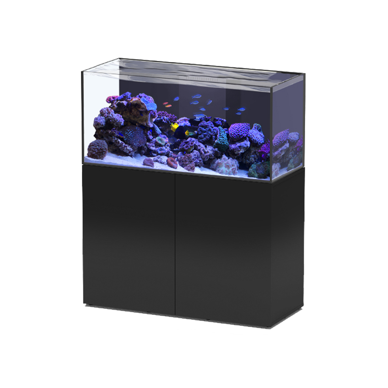 aquarium aquatlantis aquaview 120 meuble noir 330 litres eau de mer livraison incluse
