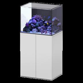 Aquarium AQUATLANTIS Aquaview 65 + Meuble Blanc - 163 Litres Eau de Mer - Livraison incluse