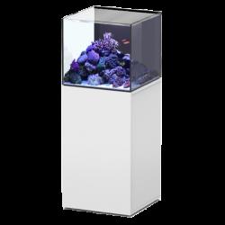 Aquarium AQUATLANTIS Aquaview 50 + Meuble Blanc - 113 Litres Eau de Mer - Livraison incluse