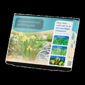 Panier flottant avec 3 plantes précultivées - Carré - 24 cm