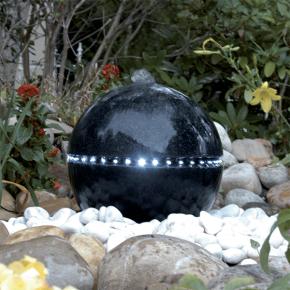 UBBINK DUBAI Fontaine de jardin - Sphère éclairée - Ø36 cm - Livraison comprise
