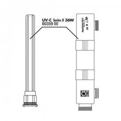 JBL Boîtier + verre pour AquaCristal UV-C 36 Watts
