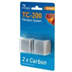 AQUATLANTIS 2x recharges de charbon pour filtre TC-200