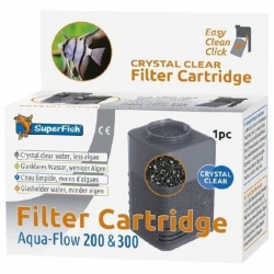 SUPERFISH Filter Cartridge Easy Click Crystal Clear - Pour Filtres AquaFlow 200 et 300