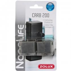 ZOLUX Recharges de charbon pour filtre Flow 200 - Lot de 2
