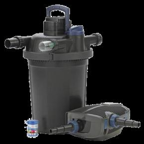 OASE FiltoClear Set 16000 - Filtre + UV + Pompe pour Bassin jusqu'à 16000 L