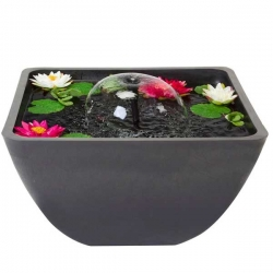 VELDA Mini bassin Fountain Pond - 75 x 75 x 35 cm