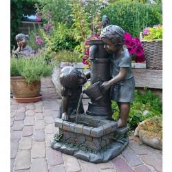 UBBINK Atlanta, Fontaine de jardin - H. 69,5 x 44 x 39,5 cm - Livraison comprise