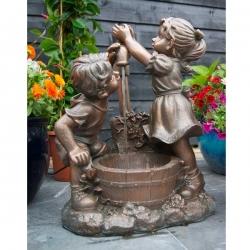 UBBINK Memphis, Fontaine de jardin - H. 64 x 47 x 26,5 cm - Livraison comprise