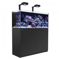 Aquarium RED SEA Reefer Deluxe 350 + Meuble noir + Eclairage ReefLED. RED SEA Coral Pro 20 Kilos OFFERT