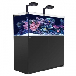 Aquarium RED SEA Reefer Deluxe XL 425 V3 + Meuble noir + Eclairage ReefLED. RED SEA Coral Pro 20 Kilos OFFERT