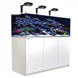 Aquarium RED SEA Reefer Deluxe XL 525 + Meuble blanc + Eclairage ReefLED. RED SEA Coral Pro 20 Kilos OFFERT
