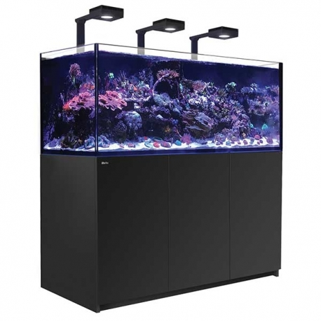 Aquarium RED SEA Reefer Deluxe XXL 625 + Meuble noir + Eclairage ReefLED. RED SEA Coral Pro 20 Kilos OFFERT