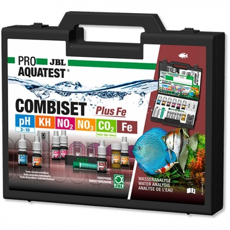 JBL ProAquaTest CombiSet Plus Fe - Mallette de 6 tests pour aquarium